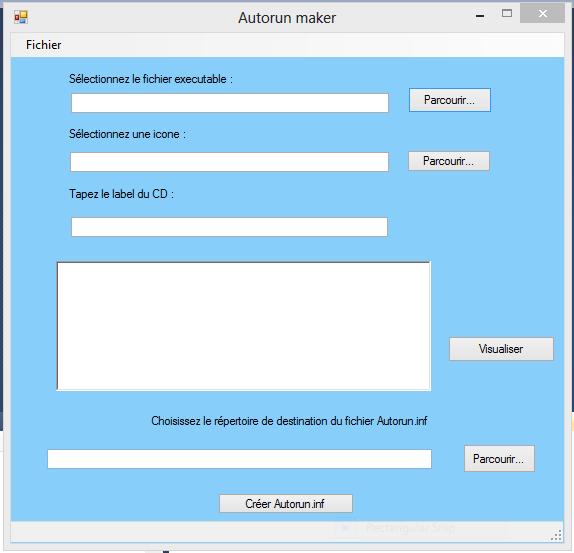 Autorun Creator C# Source Code