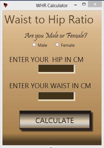 Waist to hip ratio calculator C# Source Code