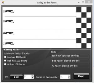 Dog Race Track C Source Code