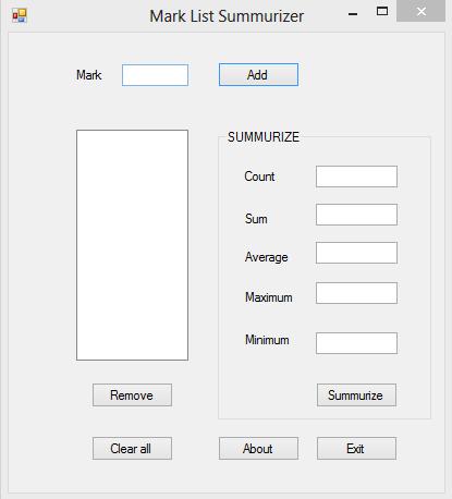 Mark List Summarizer VB.NET Source Code