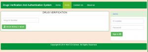 Online Drug Verification System PHP MySql Source Code