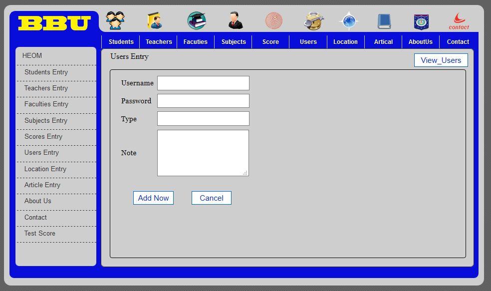 College School Management System PHP MySQL Source Code