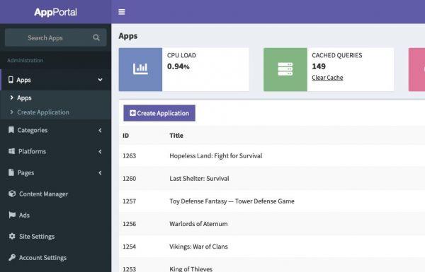 App Portal Source Code - Dashboard