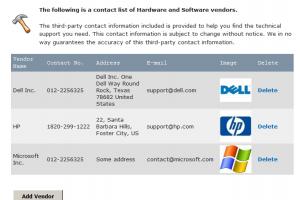 Asset Management System PHP MYSQL Source Code - Vendors