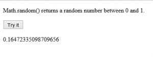 Creating Random Number Javascript Source Code