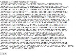 Display all value pairs of cookies Javascript Source Code