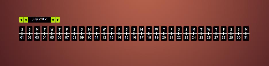 Timeline Calendar jQuery Source Code