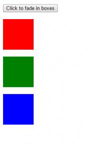 Fade elements jQuery Source Code