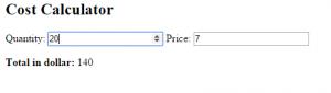 Cost Calculator AngularJS Source Code