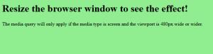Media Queries Example CSS3 Source Code