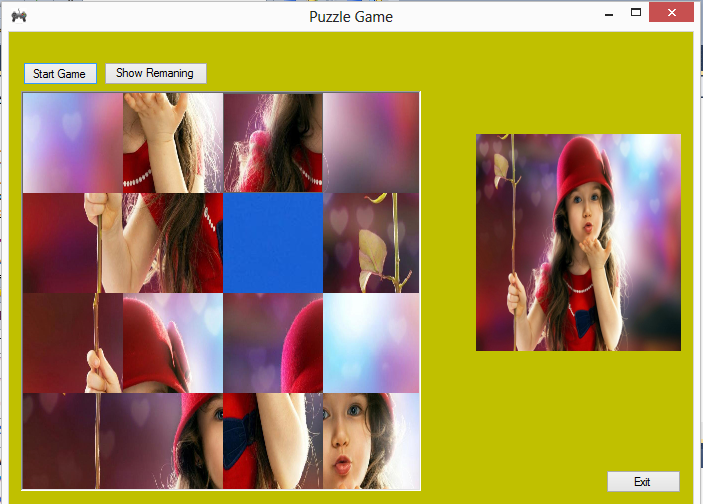 Image Puzzle Game C# Source Code