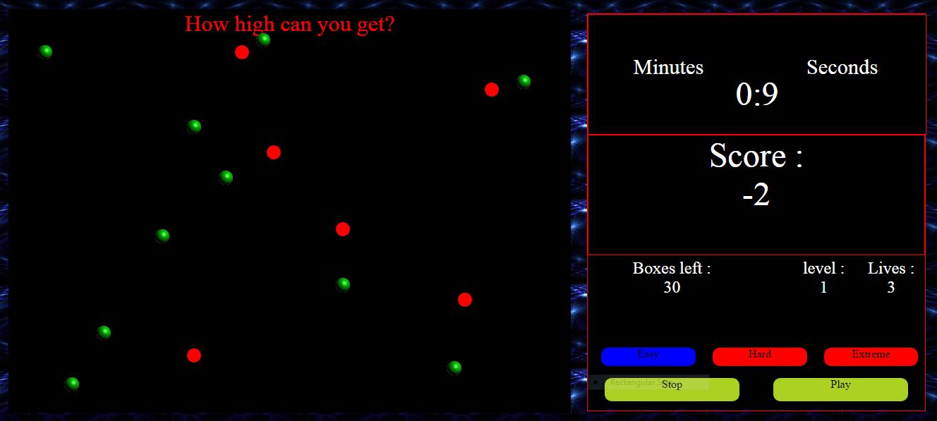 Simple Dot Game Javascript Source Code