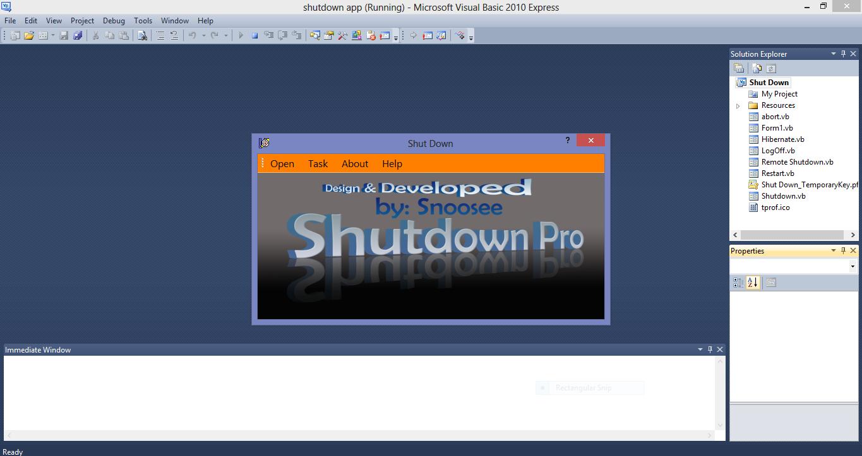 Shutdown Application VB.NET Source Code