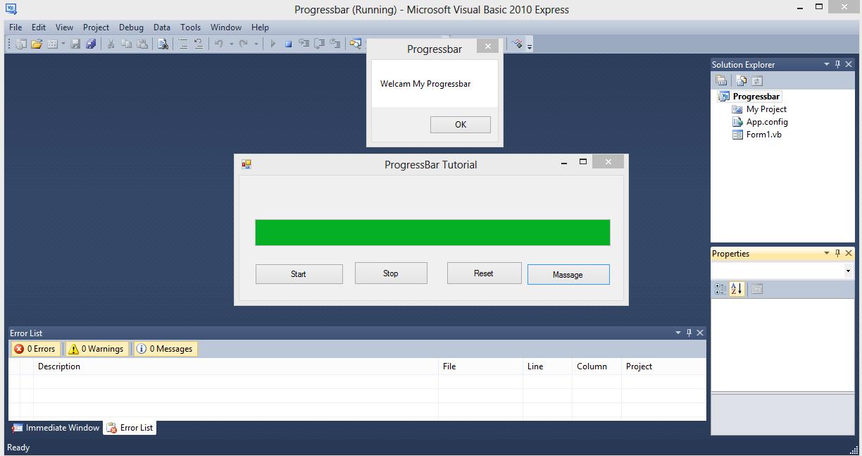 Progress Bar Visual Basic .NET Source Code