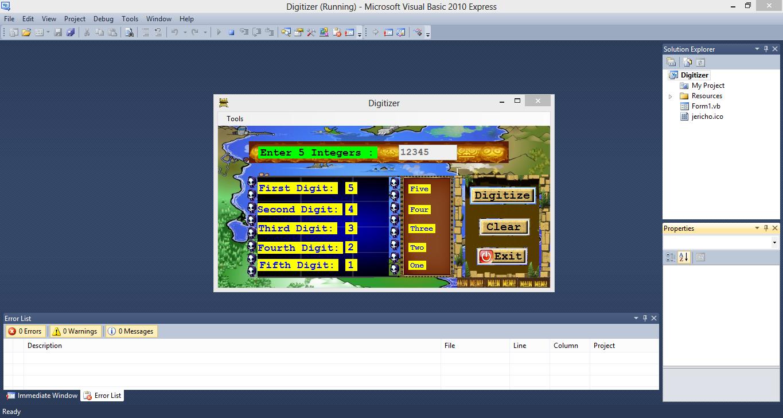 Simple Digitizer Visual Basic.NET Source Code