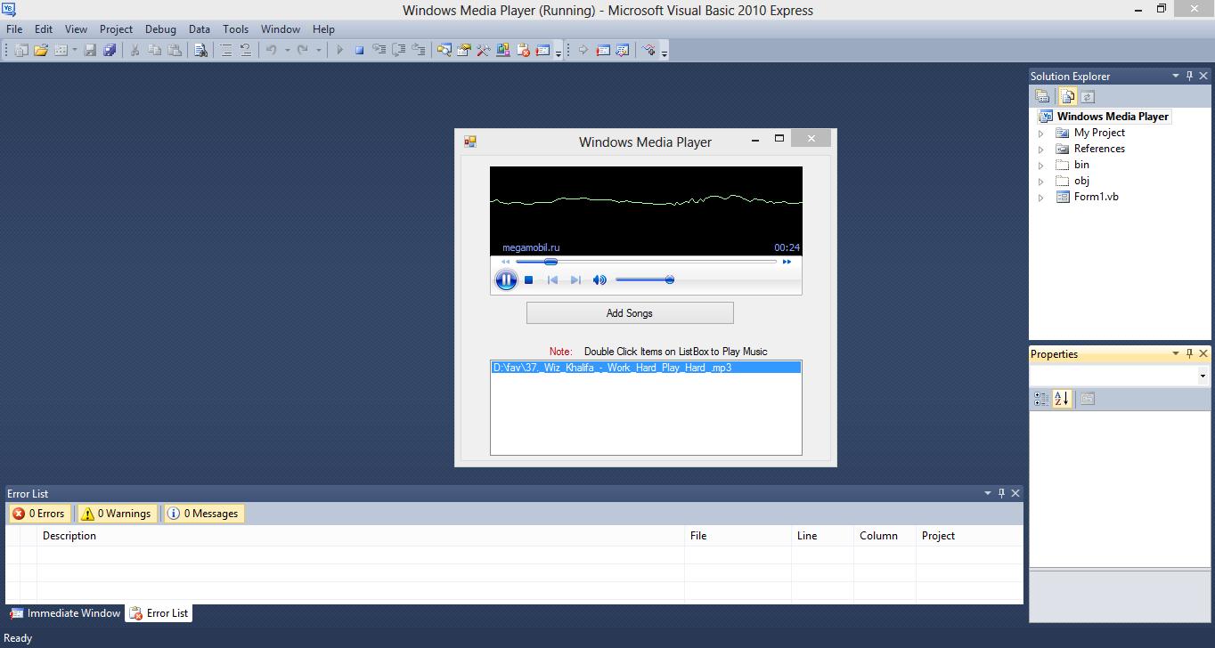 Windows Media Player VB.NET Source Code
