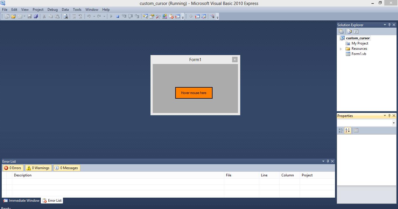 Mouse Cursor Application VB.NET Source Code