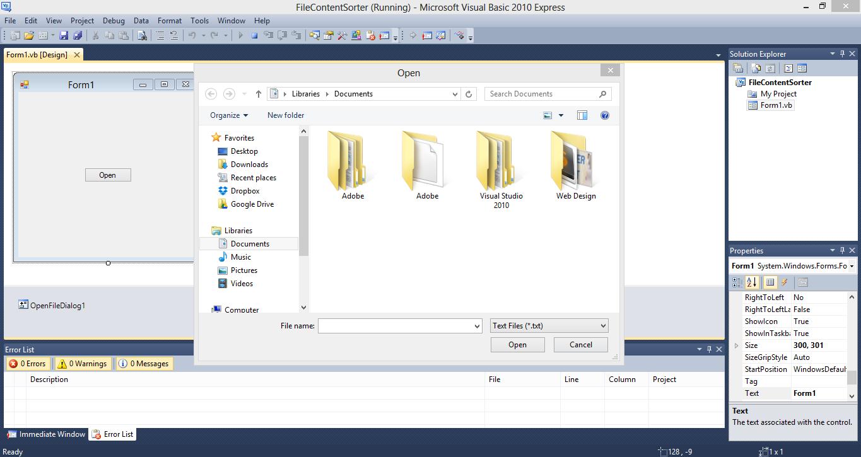 File Content Sorter VB.NET Source Code