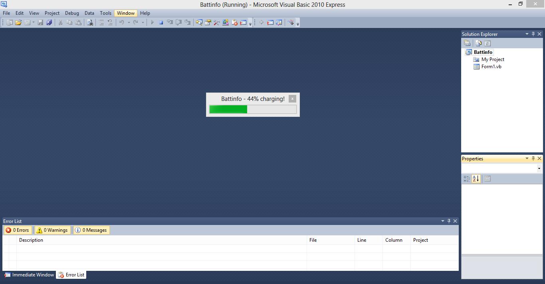 Displaying Battery Status VB.NET Source Code