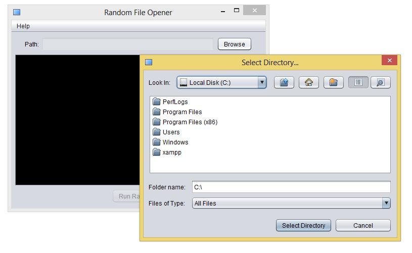 Random File Opener Java Source Code