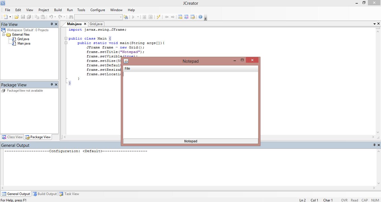 Notepad Application Java Source Code