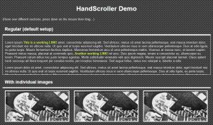 Hand Scroll Javascript Source Code