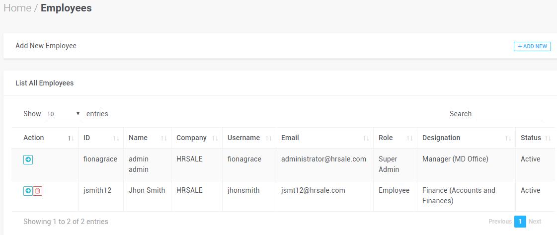 Human Resource Management & Accounting PHP MySQL Source Code