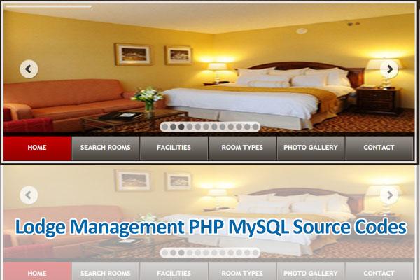 Lodge Management PHP MySQL Source Codes