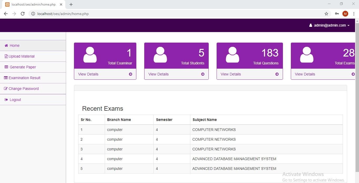 Online Exam Management System PHP MySQL Source Code