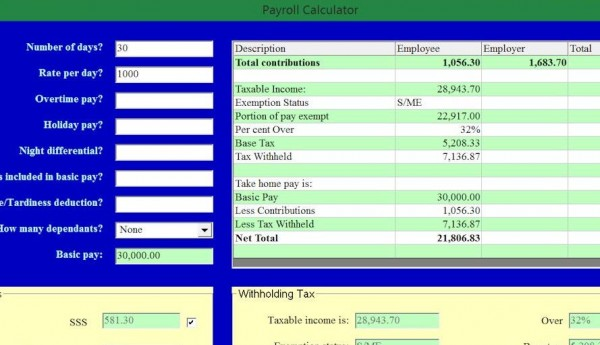 Payroll Calculator Visual Basic 6 Source Code