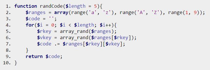 Random Password Generator in PHP Source Code