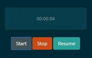 Stopwatch JavaScript Source Code