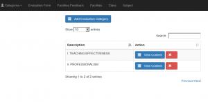 Student Feedback Management System - Evaluation Form