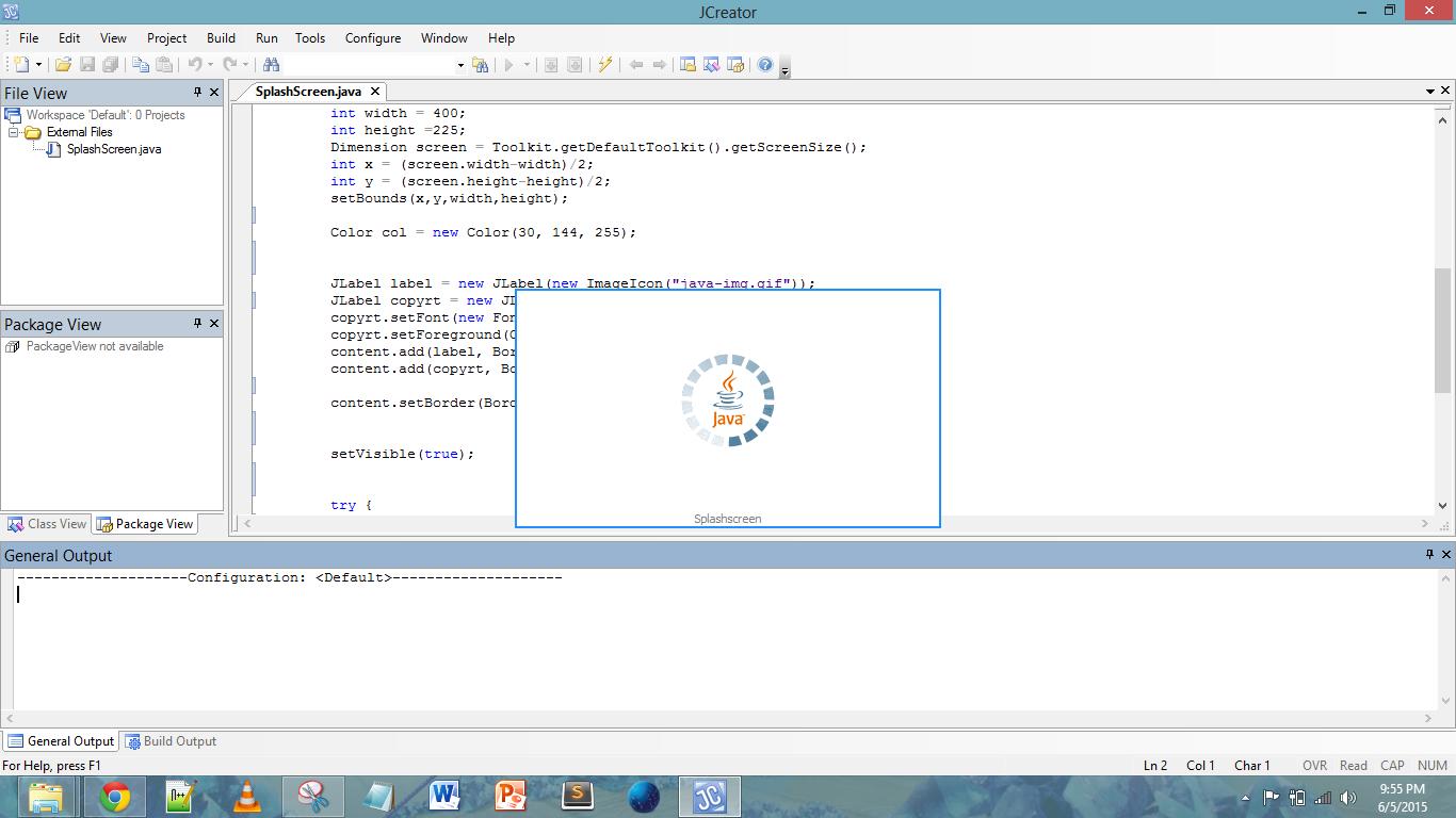 Splashscreen Program Java Source Code