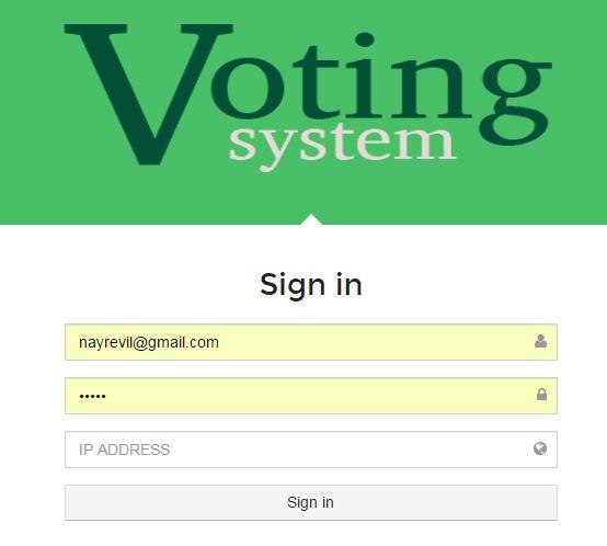 Voting System PHP MYSQL Source Code