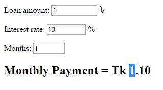 Loan Calculator Javascript Source Code