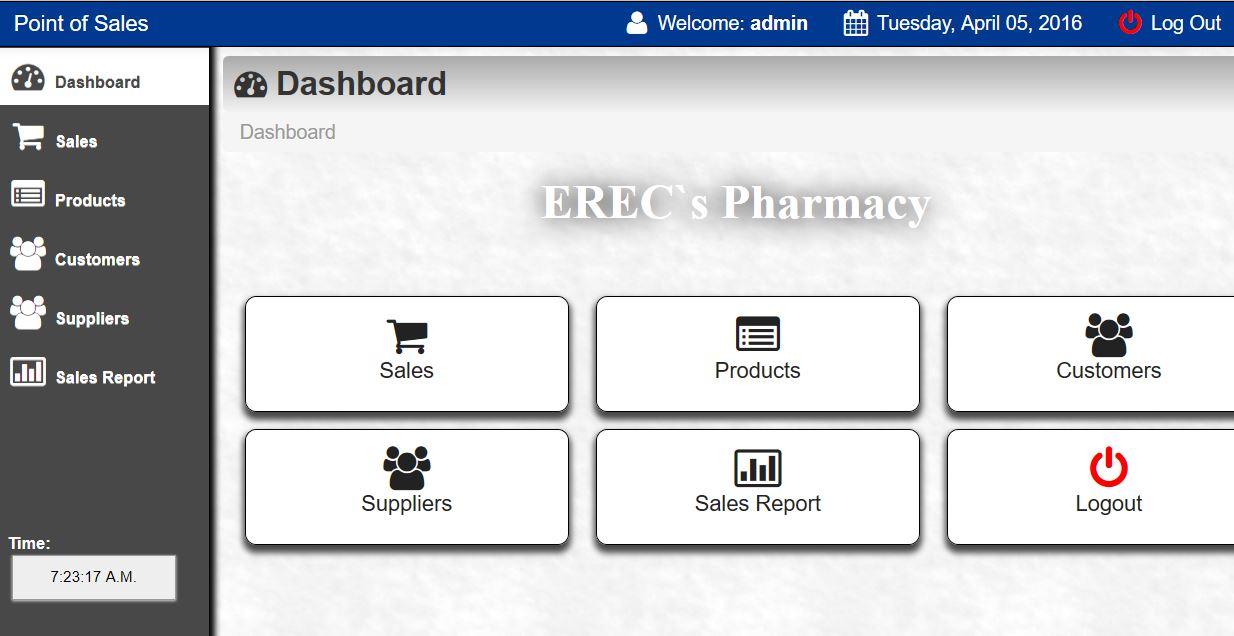 Erec Pharmacy Management System