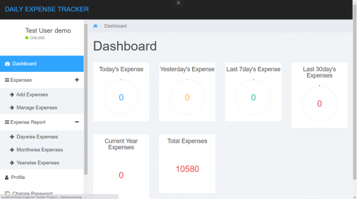 Expense Tracking Management System in PHP with Source Code