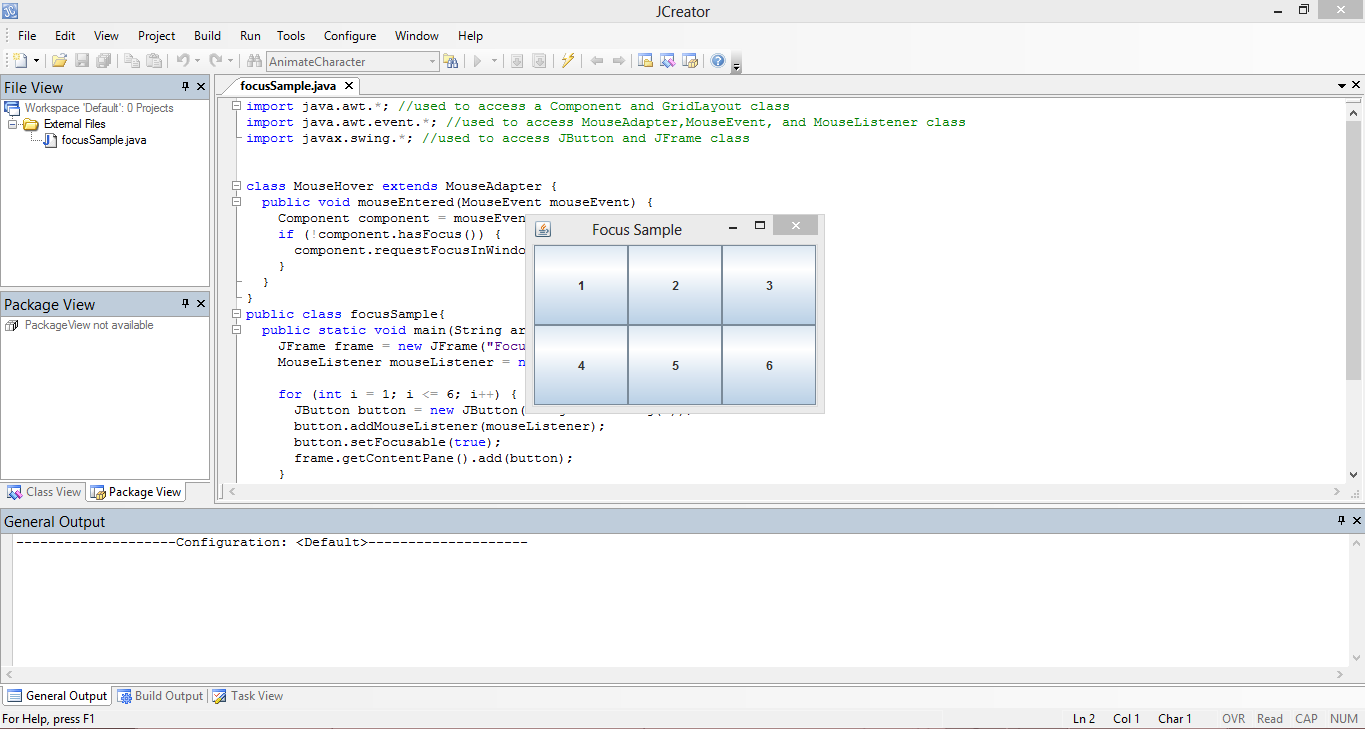 Mouse Hover Java Source Code