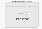 Horizontal Slider jQuery Source Code, jQuery Source Code