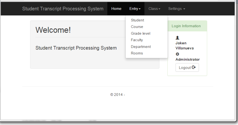 Transcript Processing Management System in PHP with Source Code